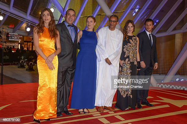 Elisa Sednaoui Driss Roukhe Zoe Cassavetes Abderrahmane Sissako Ana Girardot and Gaspard Ulliel attend the 'Cinecoles Jury Members' photocall during...