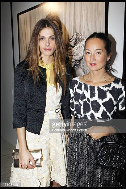 Elisa Sednaoui Harumi Klossowska of Rolla at Every Journey Began In Africa Party For The Exhibition Africa Rising And The Discovery Of The...