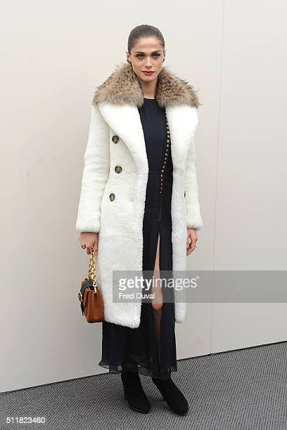 Elisa Sednaoui sighted at London Fashion Week A/W 2016/17 on February 22 2016 in London England
