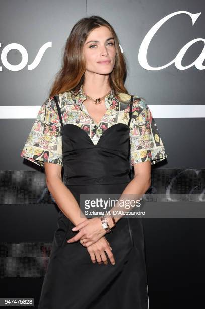 Elisa Sednaoui wearing jewelry by Cartier attends Cartier Legendary Thrill, Cocktail Party on April 16, 2018 in Milan, Italy.
