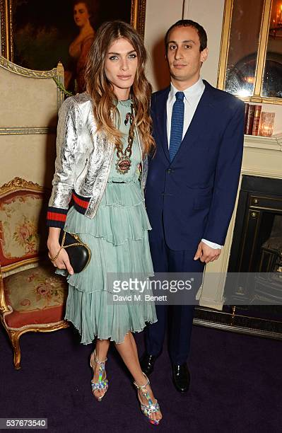 Elisa SednaouiDellal and Alex Dellal attend the Gucci party at 106 Piccadilly in celebration of the Gucci Cruise 2017 fashion show on June 2 2016 in...