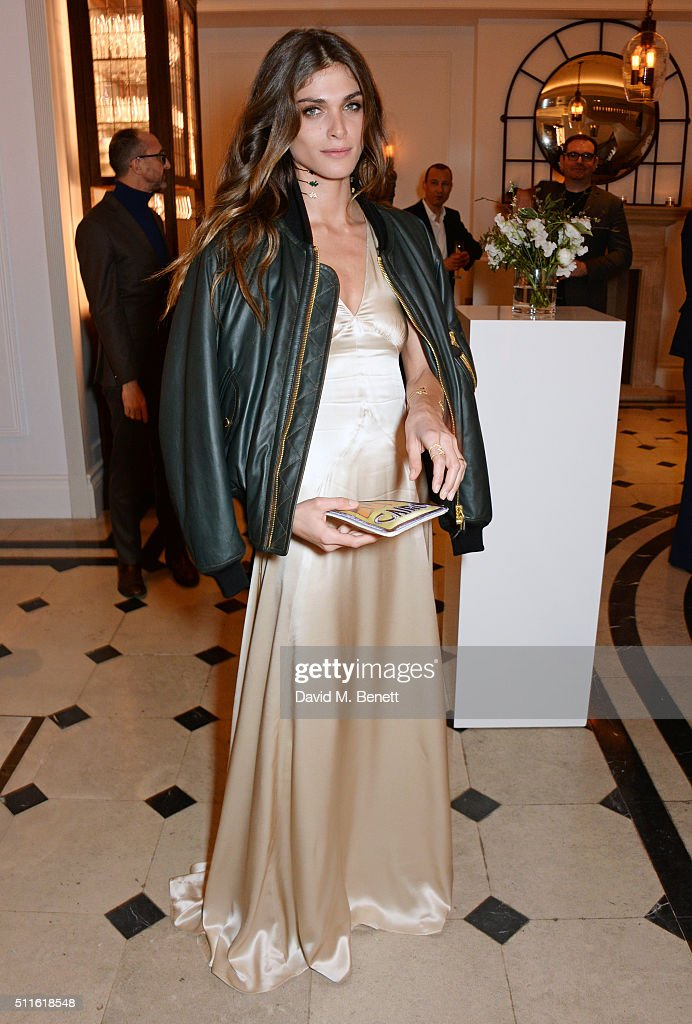 Elisa Sednaoui-Dellal attend as mytheresa.com and Burberry celebrate the new MYT Woman at Thomas's on February 21, 2016 in London, England.