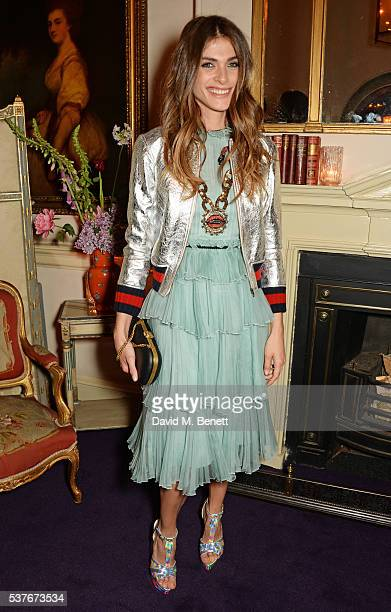 Elisa SednaouiDellal attends the Gucci party at 106 Piccadilly in celebration of the Gucci Cruise 2017 fashion show on June 2 2016 in London England