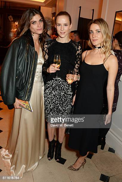 Elisa SednaouiDellal Hum Fleming and Ekaterina Malysheva attend as mytheresacom and Burberry celebrate the new MYT Woman at Thomas's on February 21...