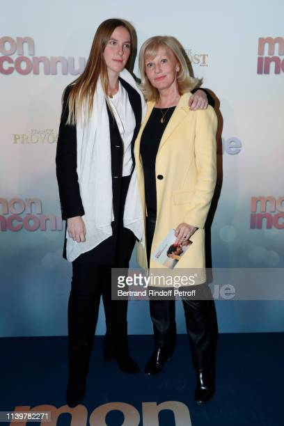 Elisa Servier and her daughter Manon de Toledo attend the Mon Inconnue Paris Premiere at Cinema UGC Normandie on April 01 2019 in Paris France