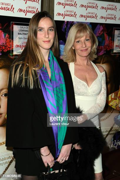 """Elisa Servier and her daughter Manon Niego attend """"Enfance Majuscule"""" Charity Gala At Salle Gaveau on March 25, 2019 in Paris, France."""