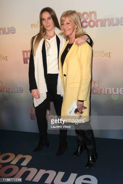 """Elisa Servier and her daughter Manon Niego attend """"Mon Inconnue"""" Premiere at Cinema UGC Normandie on April 01, 2019 in Paris, France."""