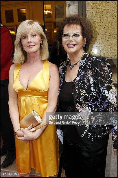 Elisa Servier Claudia Cardinale at 25th Gala Of Association L'Aide Aux Enfants Refugies To Help Children In Cambodia At Salle Gaveau In Paris