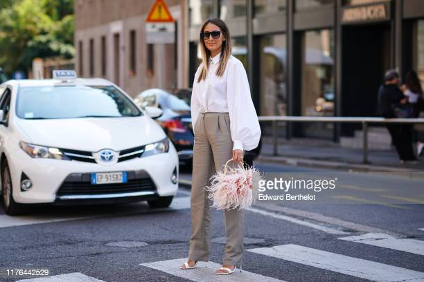Elisa Taviti attends the Ermanno Scervino show at Milan Fashion Week Spring Summer 2020 on September 21, 2019 in Milan, Italy.
