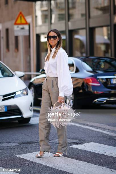 Elisa Taviti attends the Ermanno Scervino show at Milan Fashion Week Spring Summer 2020 on September 21 2019 in Milan Italy