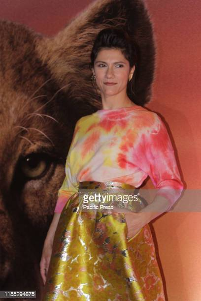 """Elisa Toffoli known as Elisa making the photocall for the Italian version of """"The lion King"""" at Warner Cinema Moderno in Rome."""