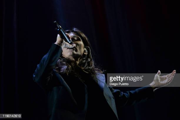 Elisa Toffoli performs live on stage at the Pala Alpitour on November 25, 2019 in Turin, Italy.
