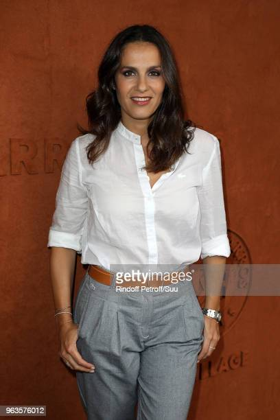 Elisa Tovati attends the 2018 French Open Day Three at Roland Garros on May 29 2018 in Paris France
