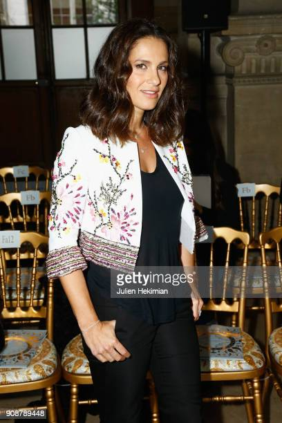 Elisa Tovati attends the Georges Hobeika Haute Couture Spring Summer 2018 show as part of Paris Fashion Week on January 22 2018 in Paris France
