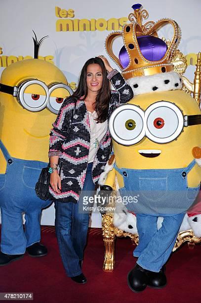 Elisa Tovati attends the 'Les Minions' Paris Premiere at Le Grand Rex on June 23 2015 in Paris France