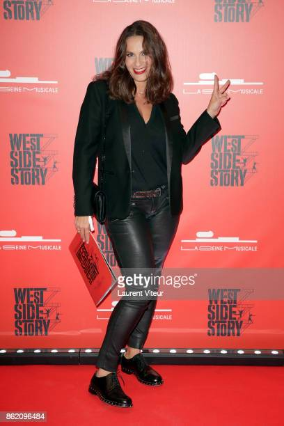 Elisa Tovati attends 'West Side Story' at La Seine Musicale on October 16 2017 in BoulogneBillancourt France