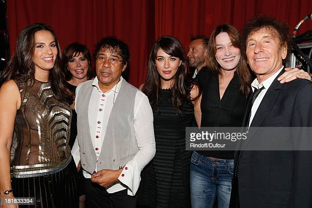 Elisa Tovati Liane Foly Laurent Vouzly Nolwenn Leroy Pierre Souchon Carla Bruni and Alain Souchon attend the 'IFRAD' Gala at Cirque D'Hiver In Paris...