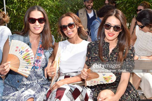 Elisa Tovati Sonia Rolland and Sofia Essaidi attend the Bonpoint Haute Couture Fall/Winter 20172018 show as part of Haute Couture Paris Fashion Week...