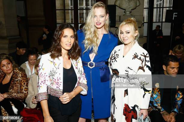 Elisa Tovati Tatiana Dyegileva and Yana Roukovskaya attend the Georges Hobeika Haute Couture Spring Summer 2018 show as part of Paris Fashion Week on...