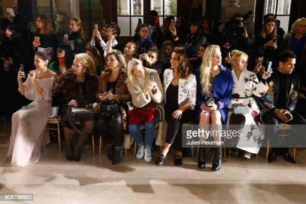 Elisa Tovati Tatiana Dyegileva Yana Roukovskay Dani Alvez Faz and guests attend the Georges Hobeika Haute Couture Spring Summer 2018 show as part of...
