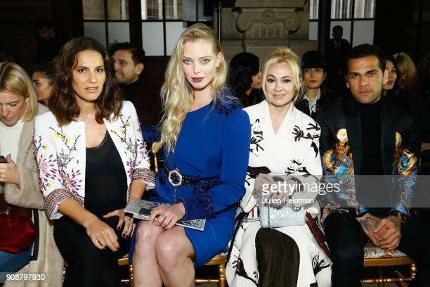 Elisa Tovati Tatiana Dyegileva Yana Roukovskaya and Dani Alvez Faz attend the Georges Hobeika Haute Couture Spring Summer 2018 show as part of Paris...