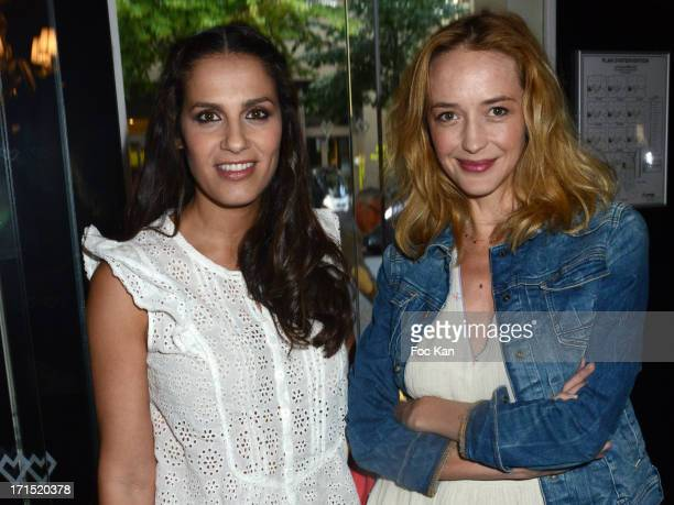 Elisa Tovatiand Helene de Fougerolles attend the 'White Party' at La Villa Maillot on June 25 2013 in Paris France