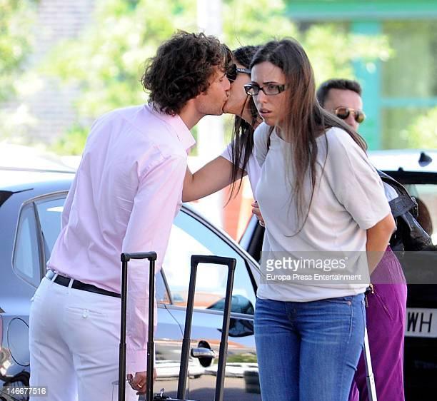 Elisabet Dutu and Francisco Ortiz Von Bismarck are seen kissing each other on June 22 2012 in Madrid Spain