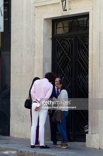 Elisabet Dutu and Francisco Ortiz Von Bismarck are seen looking for a flat on June 22 2012 in Madrid Spain