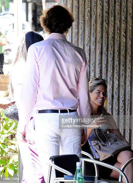 Elisabet Dutu Francisco Ortiz Von Bismarck and Cristina VallsTaberner are seen on June 22 2012 in Madrid Spain