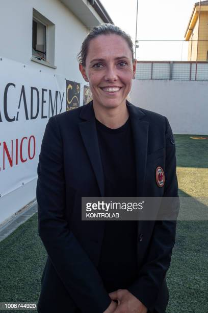 Elisabet Spina Milan Academy technical manager former player during the inauguration of the Milan Academy technical center in Corigliano Calabro in...