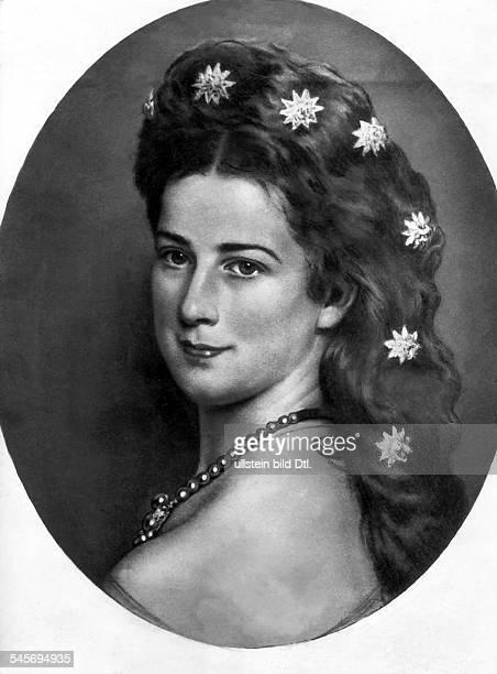 Elisabeth Amalie Eugenie gen 'Sissi'24121837 10091898Kaiserin von Österreich seit 1854Königin von Ungarn seit 1867 Porträt Gemälde von Franz Xaver...
