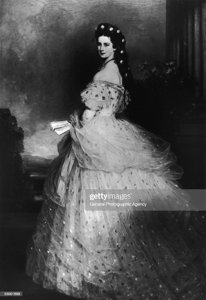 Elisabeth Amalie Eugenie (1837 - 1898), wife of Emperor Franz Josef I of Austria, circa 1865. She was born a Princess of Bavaria and married the Emperor in 1854.