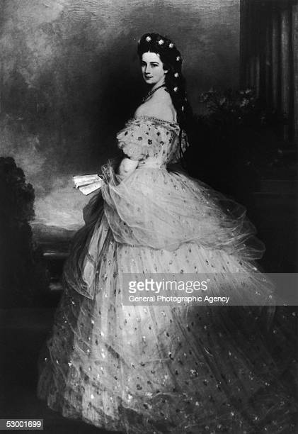 Elisabeth Amalie Eugenie wife of Emperor Franz Josef I of Austria circa 1865 She was born a Princess of Bavaria and married the Emperor in 1854