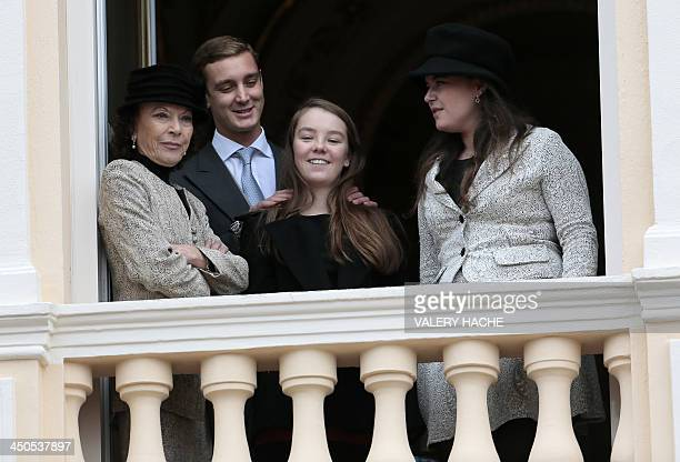 Elisabeth Anne de Massy Pierre Casiraghi Princess Alexandra and Melanie de Massy appear on the balcony of Monaco Palace during the celebrations...