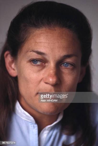 Elisabeth Badinter chez elle à Paris le 17 mai 1983 France