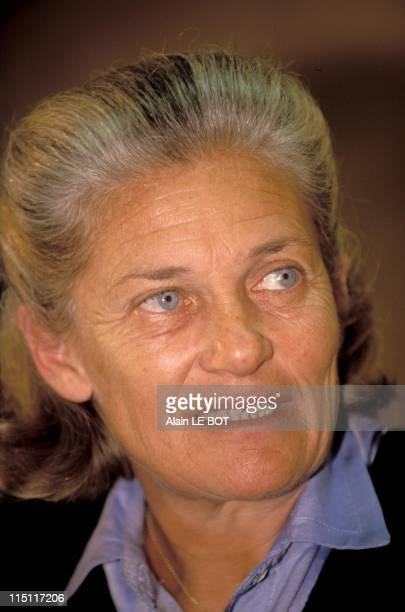 Elisabeth Badinter's new book 'Les passions intellectuelles' in Paris France on January 24 2000