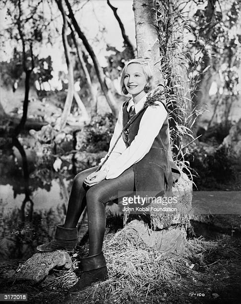 Elisabeth Bergner playing Rosalind who disguises herself as a boy to win Orlando's affections in a film of Shakespeare's play 'As You Like It'...