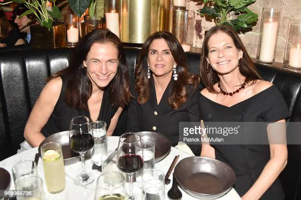 Elisabeth Beyer Pamela Rothenberg and Lori Kanter Tritsch attend Billy Macklowe's 50th Birthday Spectacular at Chinese Tuxedo on April 21 2018 in New...