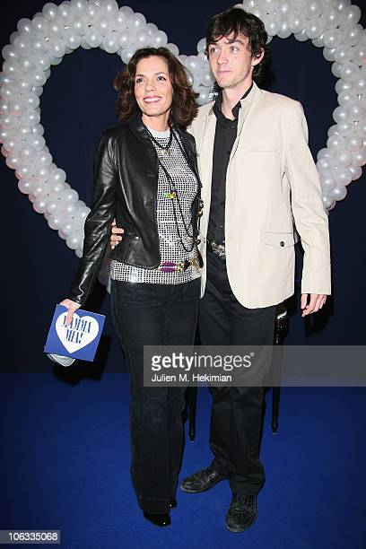 Elisabeth Bourgine and her boyfriend Jules attend the 'Mamma Mia ' Paris premiere at Theatre Mogador on October 28 2010 in Paris France