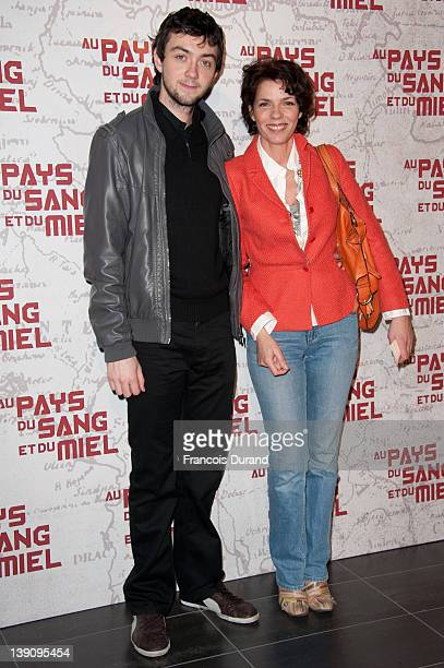 """Elisabeth Bourgine and her son Gilles attends """"In the Land Of Blood And Honey"""" Pairs premiere on February 16, 2012 in Paris, France."""