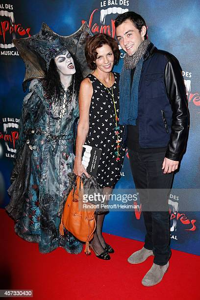 Elisabeth Bourgine and her son Jules attend 'Le Bal Des Vampires' Premiere at Theatre Mogador on October 16 2014 in Paris France