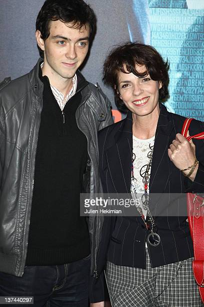 Elisabeth Bourgine and her son Jules attend the 'Tinker Tailor Soldier Spy' Paris premiere at cinema UGC Normandie on January 20 2012 in Paris France