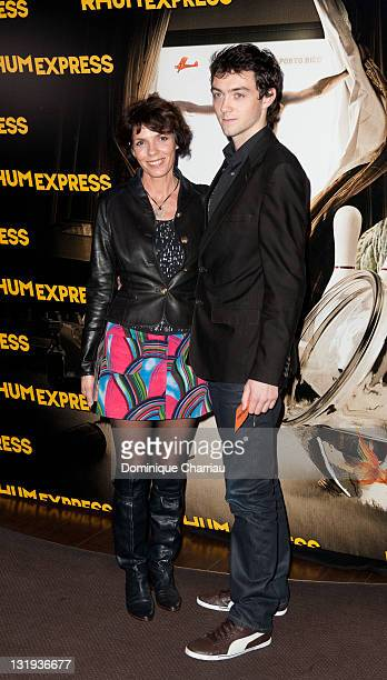 Elisabeth Bourgine and Jules Miesch attend the 'Rhum Express' Paris Premiere at Cinema Gaumont Marignan on November 8 2011 in Paris France