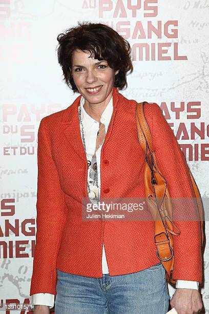 """Elisabeth Bourgine attends """"In The Land Of Blood And Honey"""" Paris premiere on February 16, 2012 in Paris, France."""