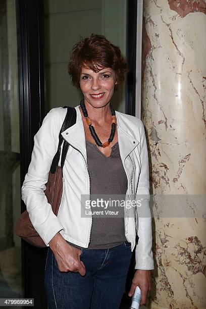 Elisabeth Bourgine attends the Manu Reas show as part of Paris Fashion Week Haute Couture Fall/Winter 2015/2016 on July 8 2015 in Paris France