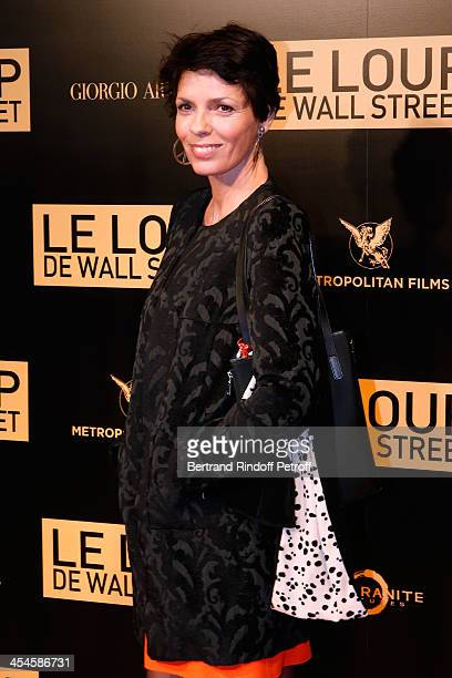 Elisabeth Bourgine attends the photocall before the 'The Wolf of Wall Street' World movie Premiere at Cinema Gaumont Opera on December 9, 2013 in...