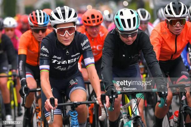 Elisabeth Deignan-Armitstead of The United Kingdom and Team Trek- Segafredo / Mikayla Harvey of New Zealand and Team Equipe Paule Ka / Demi Vollering...