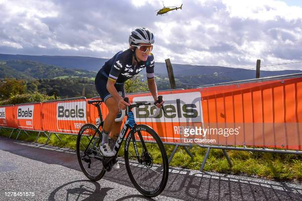 Elisabeth Deignan-Armitstead of The United Kingdom and Team Trek- Segafredo / during the 4th Liege - Bastogne - Liege 2020, Women Elite a 135km race...