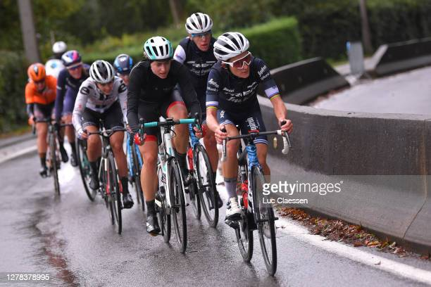 Elisabeth Deignan-Armitstead of The United Kingdom and Team Trek- Segafredo / Ellen Van Dijk of The Netherlands and Team Trek- Segafredo / Marlen...