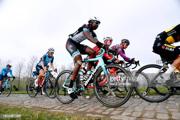 Elisabeth Deignan-Armitstead of United Kingdom and Team Trek- Segafredo, Teniel Campbell of Trinidad And Tobago and Team BikeExchange & Fien Van...